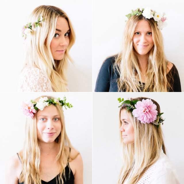 diy: how to make flower crowns - lauren conrad
