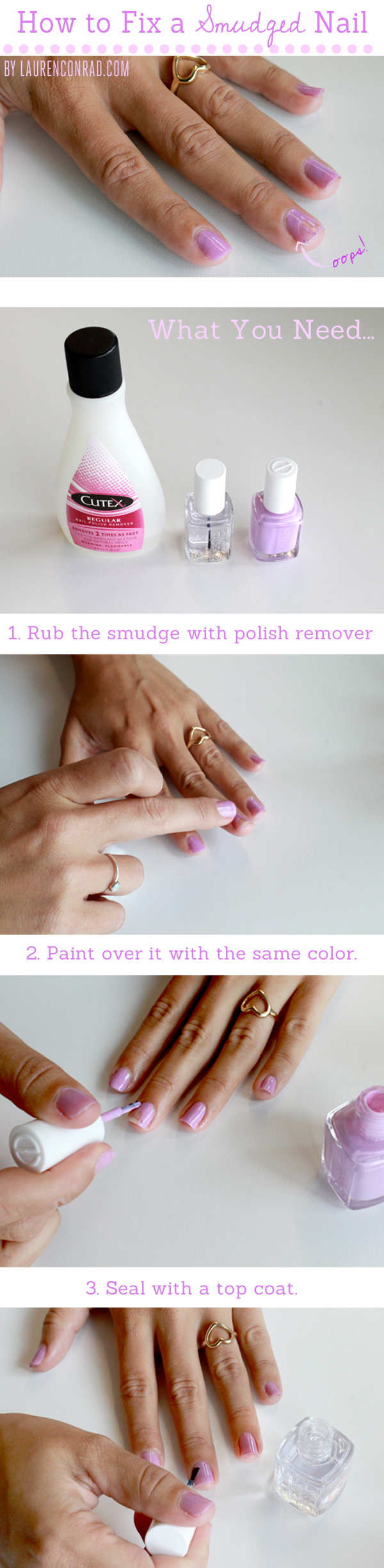 Beauty 911 How To Fix A Smudged Nail