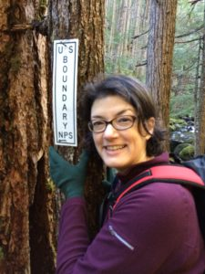 At the boundary between Olympic National Park and Buckhorn Wilderness