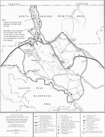 Forest Service proposal for Eldorado Peaks High Country, 1965