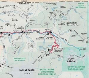 Mt. Baker area map