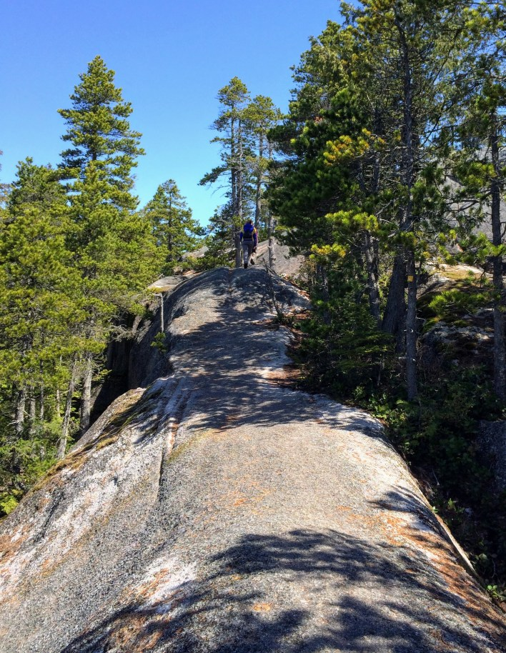 Unless you're a rock climber, this granite rib is the only way to get to the top of the Chief's third peak.