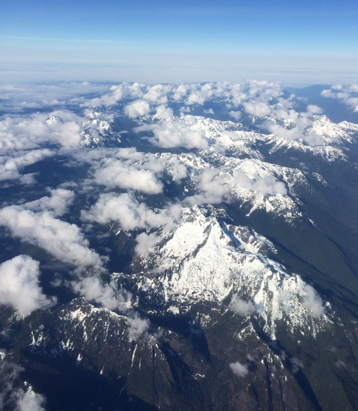 The Coast Range in British Columbia from the plane.
