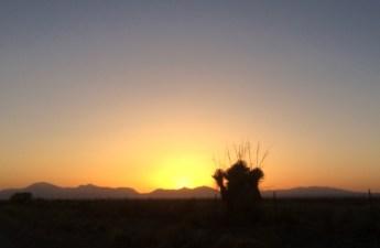 Sunset over the Tularosa Basin.