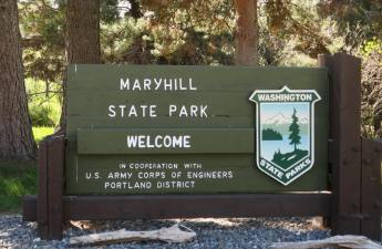 Maryhill State Park entrance sign
