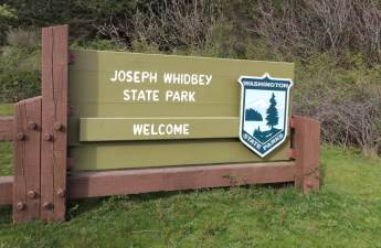 Entrance sign at Joseph Whidbey State Park