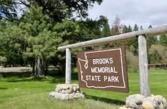 Brooks Memorial State Park entrance sign