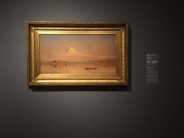 """Mount Rainier, Bay of Tacoma - Puget Sound"" by Sanford Robinson Gifford"