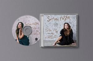 The Sutton Foster front album cover and CD design