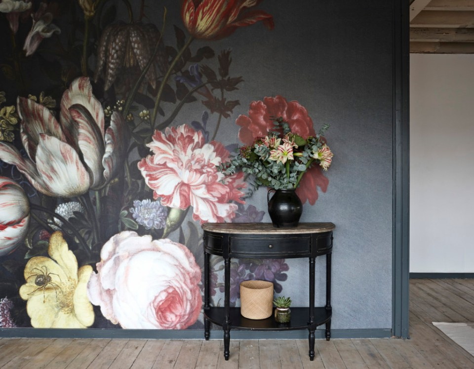 Surface View Wall Mural Floral