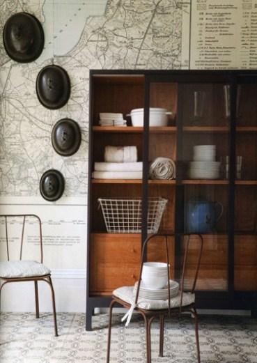 map wallpaper interior designer showhomes