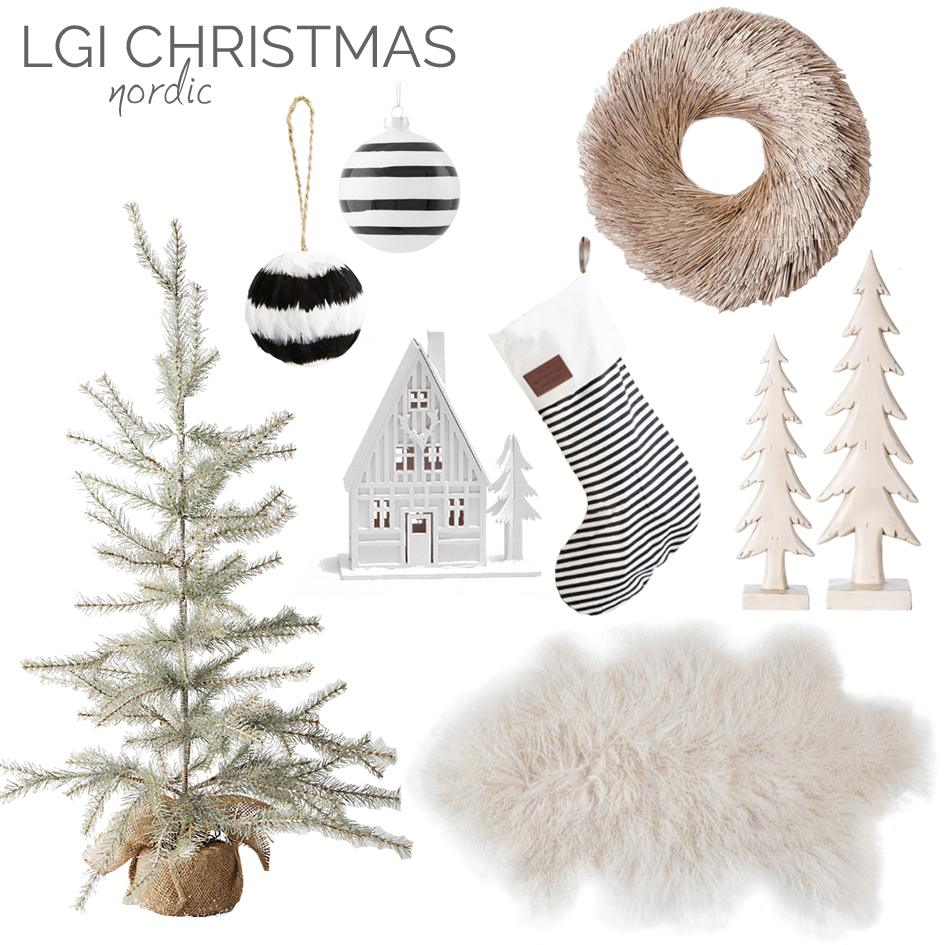 nordic christmas styling