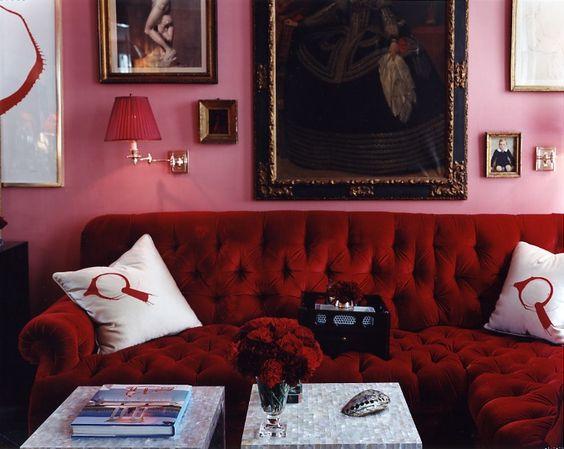 Red and pink interiors cheltenham