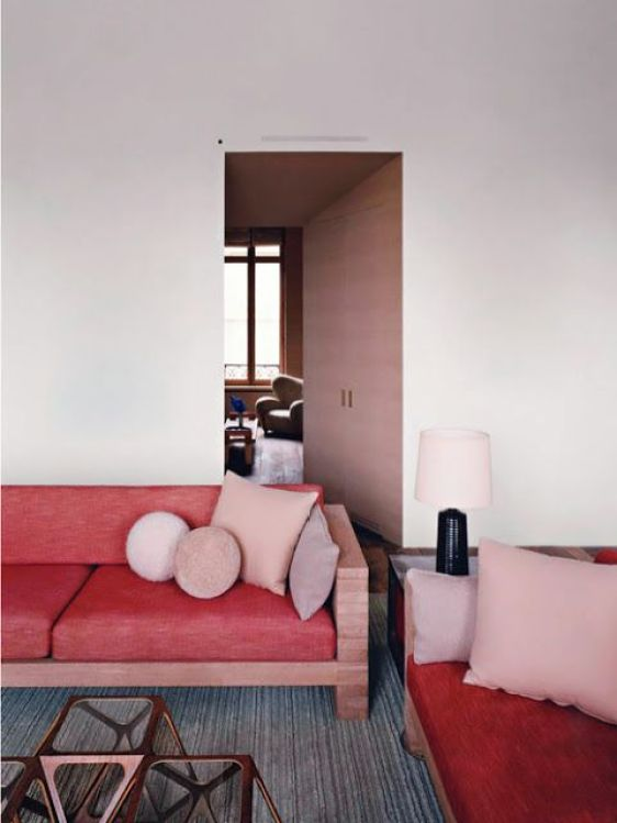 Red and pink interiors gloucestershire