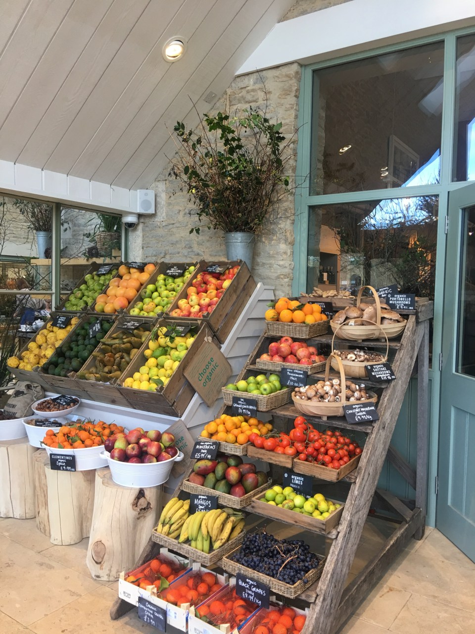 Organic farm shop Cotwolds