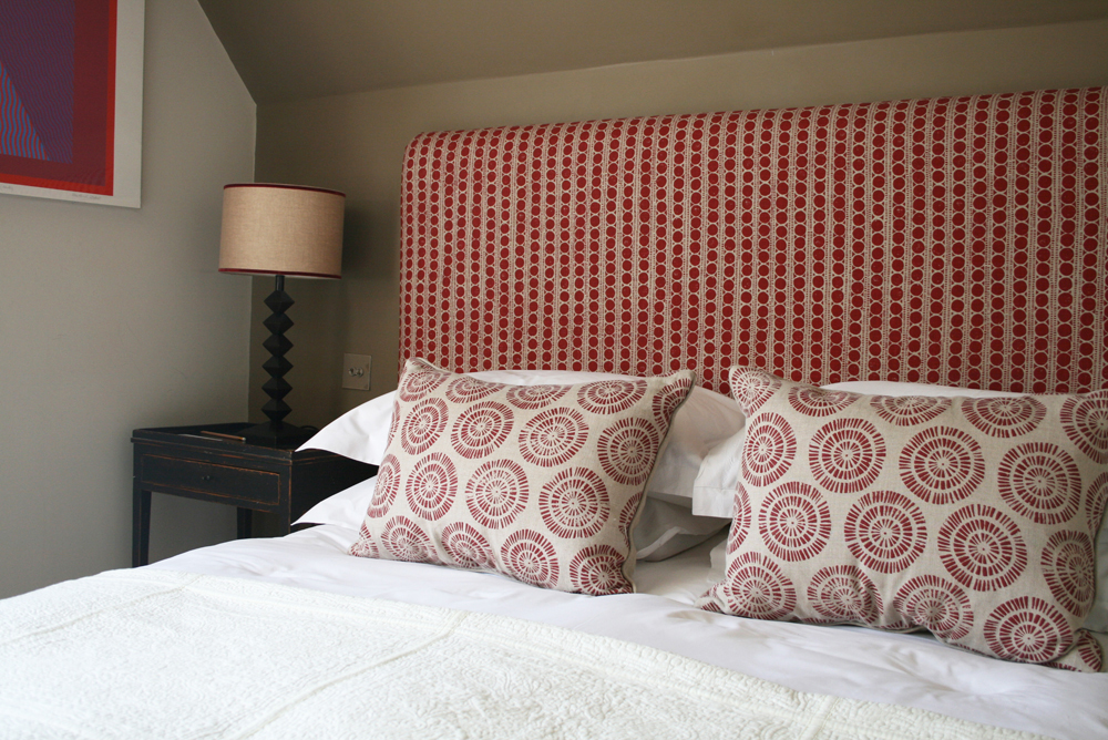 Lindsay Alker British interiors hand printed linen textiles