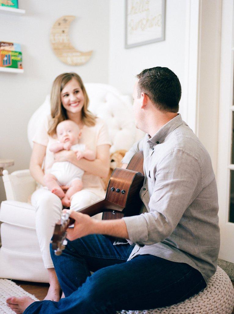Baby's Milestone Session, Guitar Nursery, Neutral Inspired Nursery