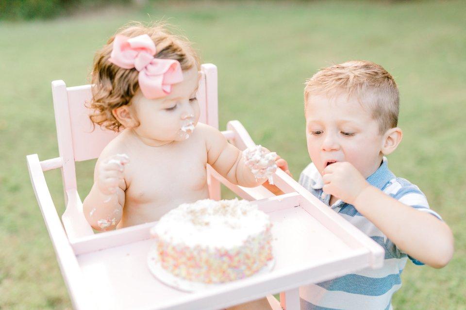 Oklahoma City, Midland Texas, Family Photographer, Lauren Grigg, Vintage High Chair, Cake Smash
