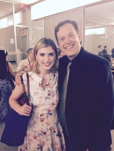 Ms. Haley with Brian Lewis at Juilliard's 2015 Starling-Delay Symposium on Violin Studies