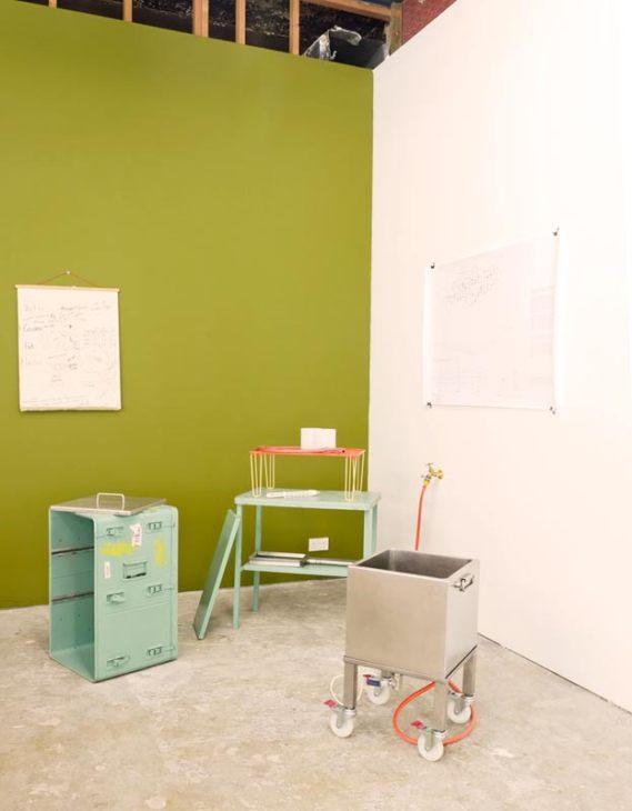Exhibition installation - Fernando Garcia-Dory, Cheese Production Mobile Unit (CPMU 3) 2014