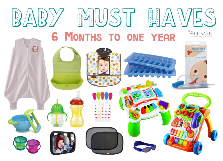 Most Used Baby Products Six Months to One Year