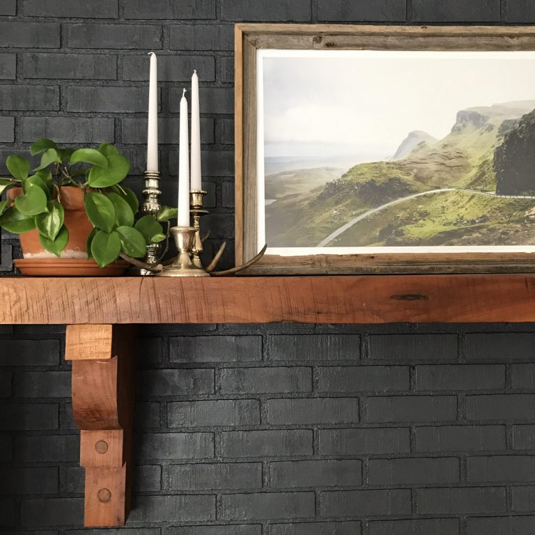 Painting Our Fireplace Grey