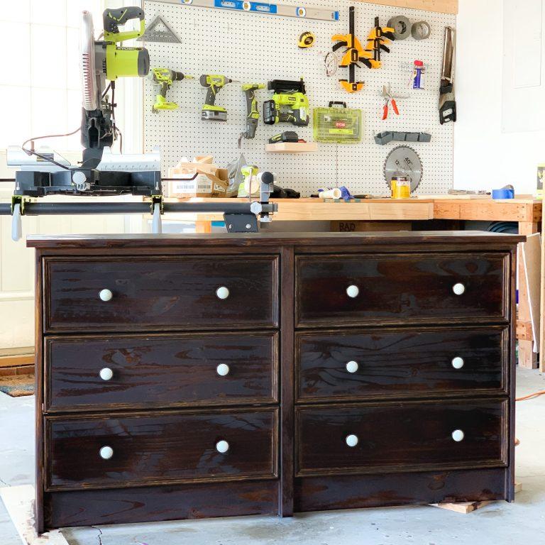 One Room Challenge Week 6: Ikea Rast Dresser Hack