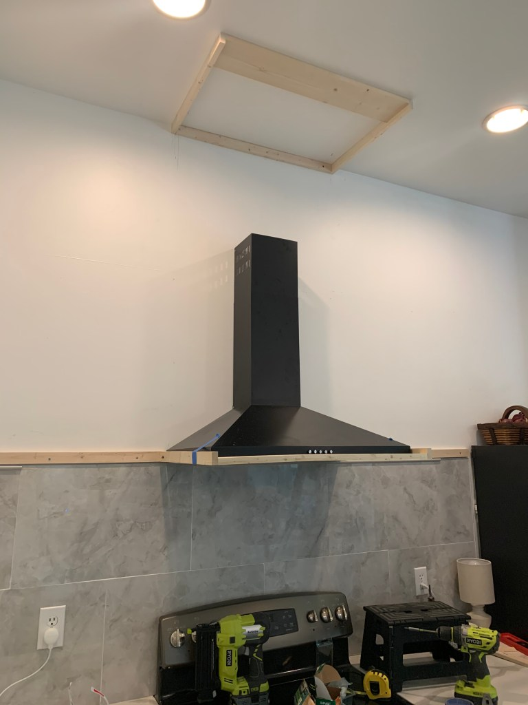 framing out a diy vent hood cover