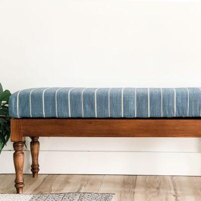 DIY Upholstered Storage Bench