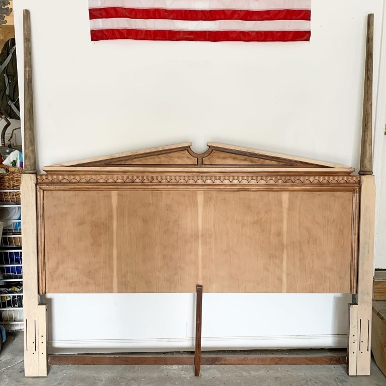 One Room Challenge Week 3: Finished Stripped + Sanded Bed and Paint Decisions
