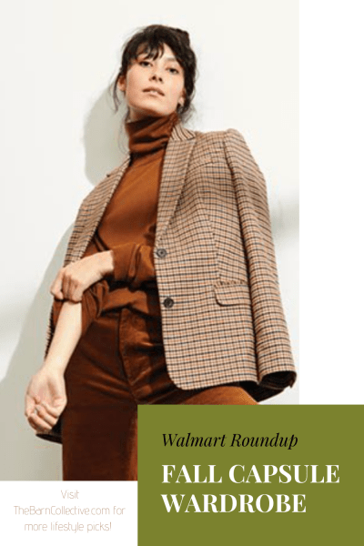 Walmart Fall Capsule Wardrobe Roundup. Winter capsule wardrobe. Free Assembly. Time and Tru. Fall Fashion. Rust colored pants. Fall sweaters. Fashion inspo. #walmart #fallcapsulewardrobe #fallfashion #walmartfinds #walmartfashion