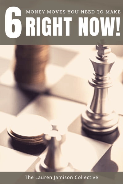 Six Money Moves You Need to Make Right Now! Financial strategy. Financial health. Money management. How to save money. How to save for retirement. Financial planning.