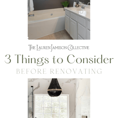 3 Things to Consider Before Starting A Home Renovation