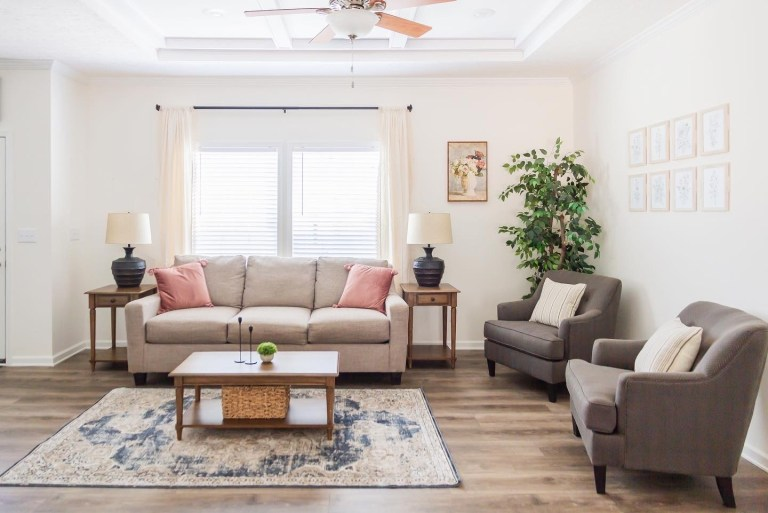 Living Room Makeover Before + After with Clayton Homes