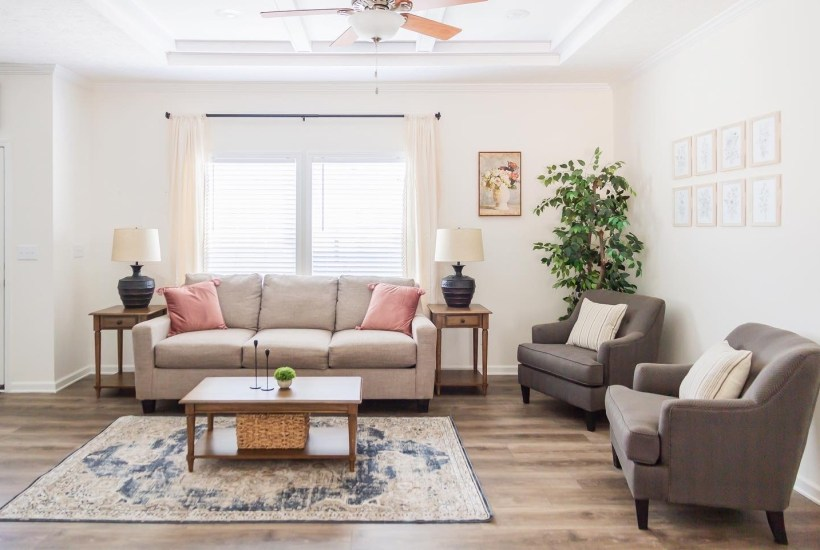 Clayton Homes One Room Challenge Before + After