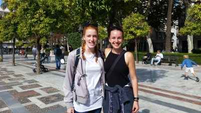 Halina and I in Plaza Nueva.