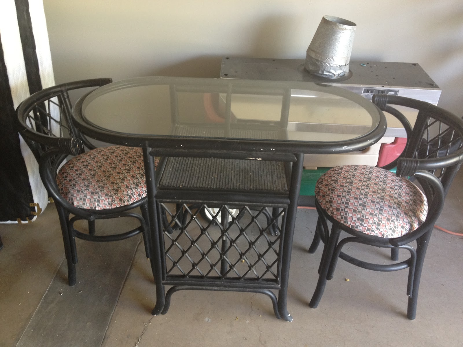 hobby lobby table and chairs folding chair o shopping re upholstery how to diy sea foam