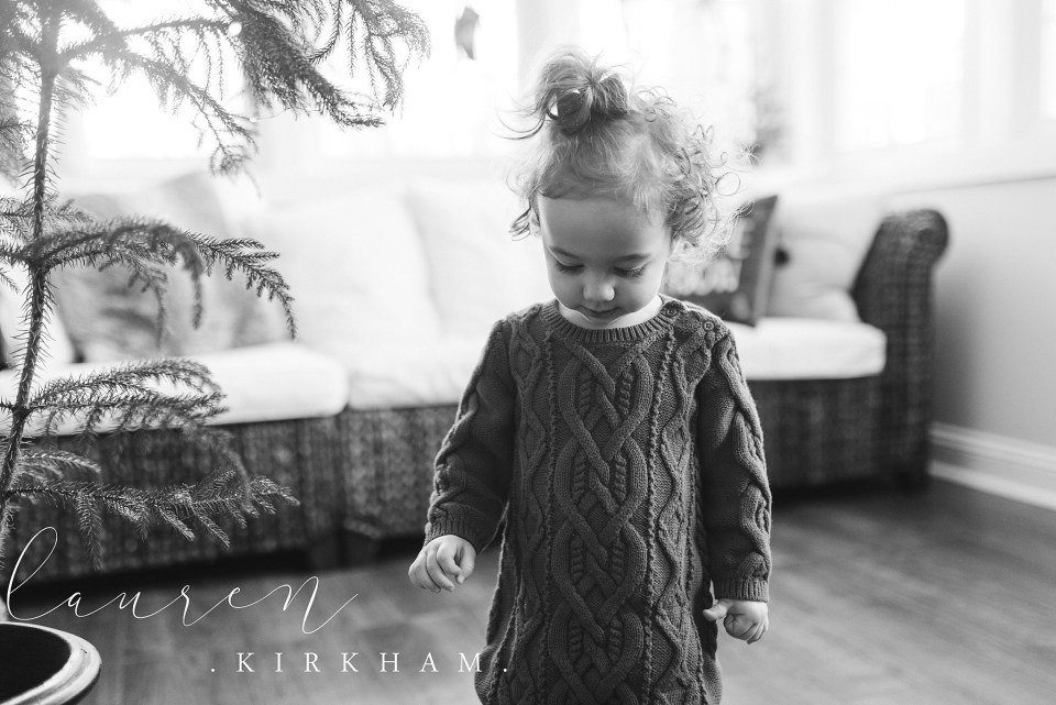 Lauren Kirkham Photography Sunroom holiday lifestyle session decorating christmas tree