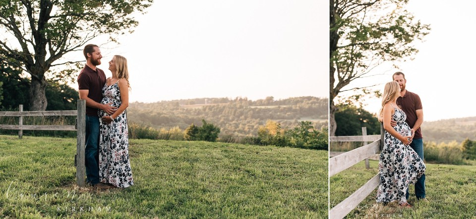 rustic maternity session with Albany NY maternity photographer
