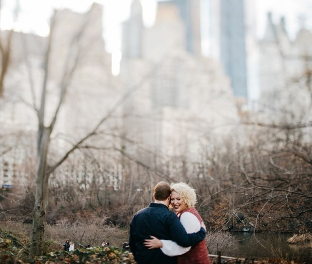 Romantic Winter Nyc Engagement Session
