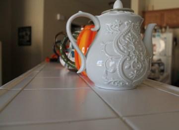 Lots of pretty tea pots