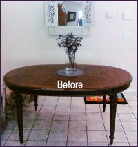 Meanwhile kitchen table progress | Inspire Me