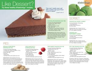 Shakeology-Dessert