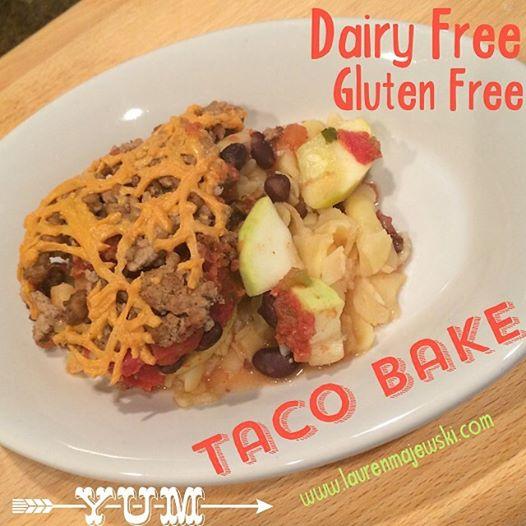 Gluten Free Dairy Free Taco Bake