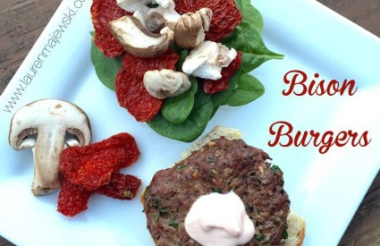 Clean Bison Burgers with Sundried Tomato!