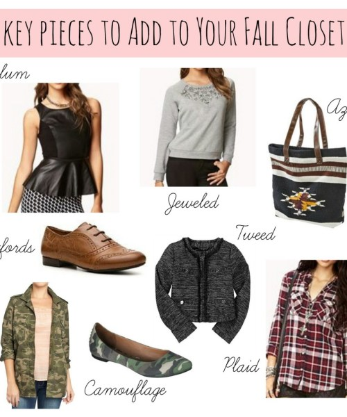 Key Pieces to Add to Your Fall Closet