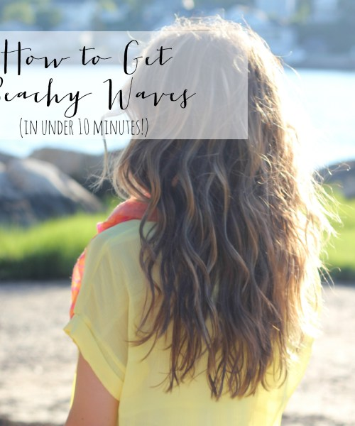 VIDEO: How To Get Beachy Waves Using a Curling Wand