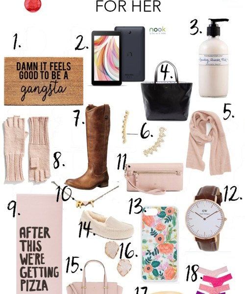 Holiday Gift Guide // For Her