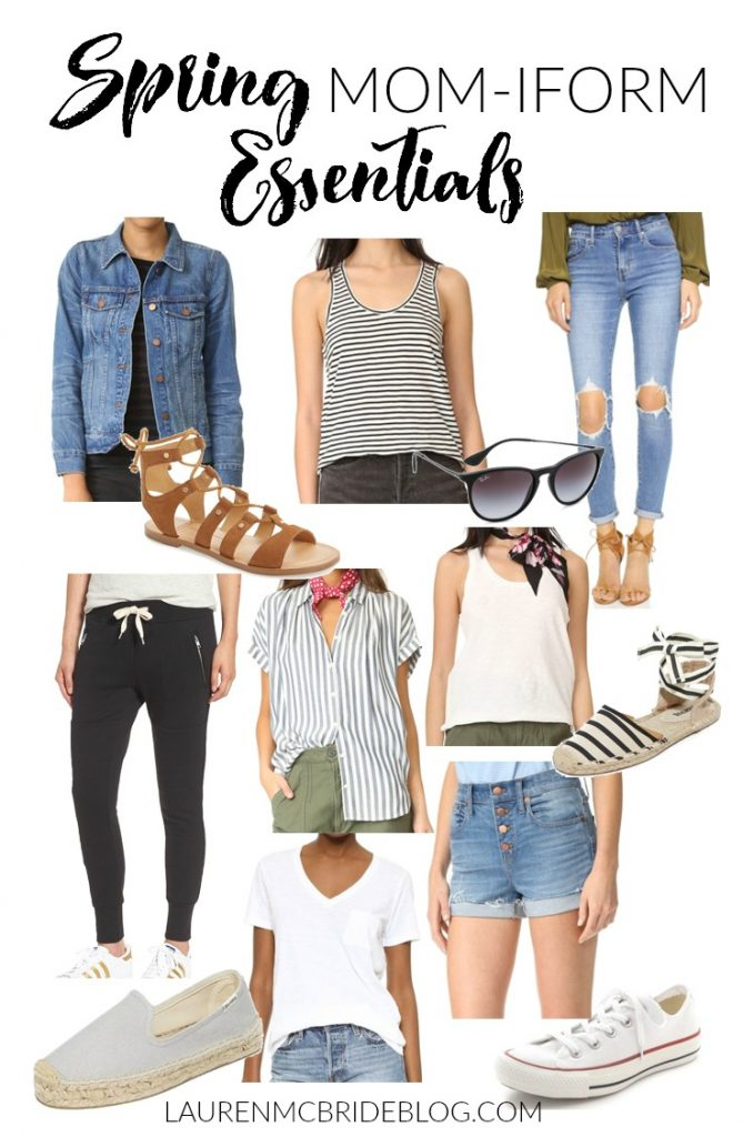 Spring momiform essentials that are basic pieces for your spring wardrobe
