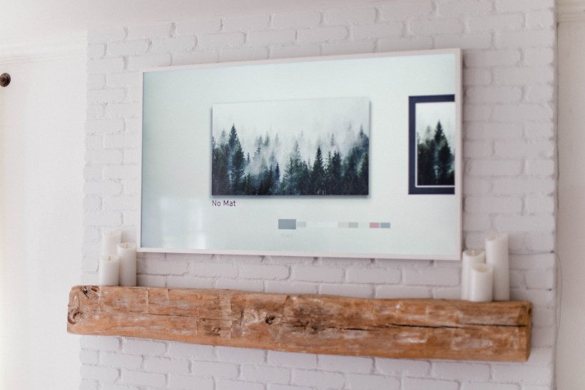 Connecticut life and style blogger Lauren McBride shares how to make the Samsung Frame TV look like art, including sizing and image tips and tricks.